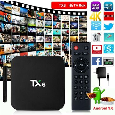 Android приставка TANIX TX-6 4/32 ГБ Smart TV Box (Allwinner H6