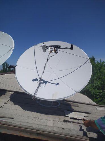 Аксессуары для ТВ и видео в Кара-Балта: Продаю спутниковую тарелку с тюнером 3 головке, в Кара-Балте могу
