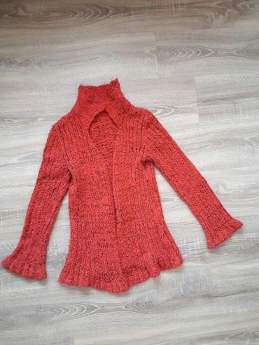 Pletena jaknica - Srbija: Topla ženska pletena jaknica Par puta nošena