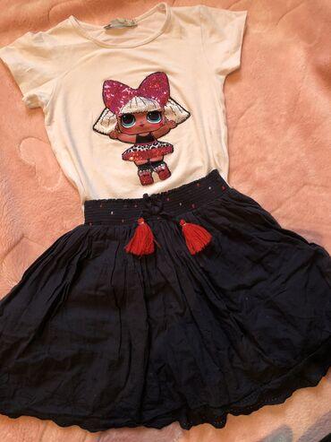 Dečija odeća i obuća | Tutin: Komplet haljinica i majica 110 kao novo