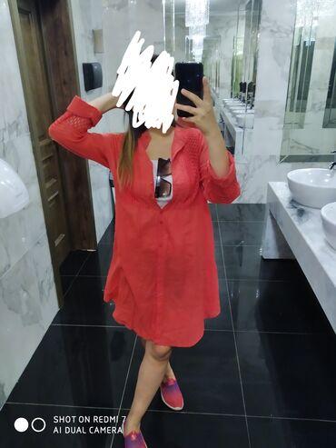 shapka-zara-dlja-devochki в Кыргызстан: Продаю рубашку тоненькая можно как накидку или как платье ткань хб не