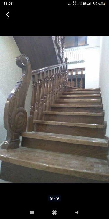 стяжка пола в на квартиру в Кыргызстан: Лестница на заказЛестницы на заказ в БишкекеДеревянные
