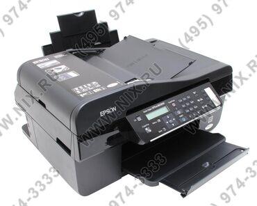 Цветной принтер ксерокс сканер МФУ Epson BX305f в хорошем состоянии