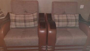 диван и 2 кресла в Азербайджан: Комплекты диван и кресло | Раскладной, С базой | 2 кресла