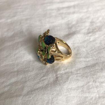 Очень красивое кольцо со стразами и бабочками Бижутерия Размер 16-16,5