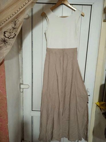 вязаное платье с открытой спиной в Кыргызстан: Платье Турция длинное в пол спина открыта размер 44-46 б/ у цена 700