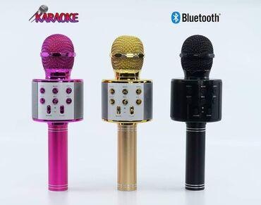 Laptopovi - Srbija: Cena: 1500 dinara. Bežični bluetooth mikrofon za karaoke i zvučnik