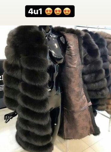 NOVA bunda od lisice PUNIJE KRZNO 4 u 1 - moze biti kao na slici duga