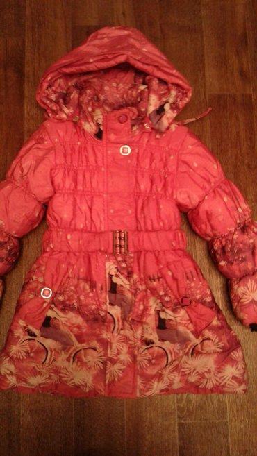 Продаю зимнюю куртку для девочки б/у (замок надо сделать).  в Бишкек