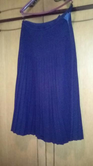 Haljina-s-i-obim-struka-cm - Srbija: Plisirana suknja teget zorzet postavljena, obim struka 63 cm