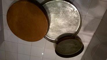 2 μπακιρένια ταψιάΤαψί μεγάλο ( διάμετρος επάνω μέρους ) ……… 57