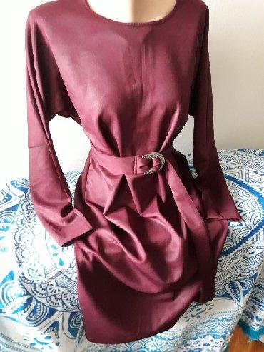 Haljina Naco fashion, nova, velicina L sa leptir rukavima i kaisom