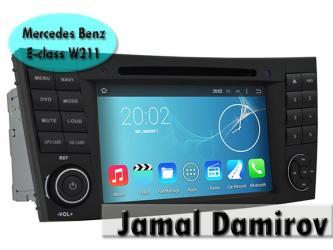 Bakı şəhərində Mercedes Benz E-class W211 üçün DVD-monitor. DVD-монитор для Mercedes Benz E-class W211.