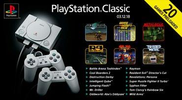 Bakı şəhərində Playstation one. Playstation 1 . Playstation classic. Sony
