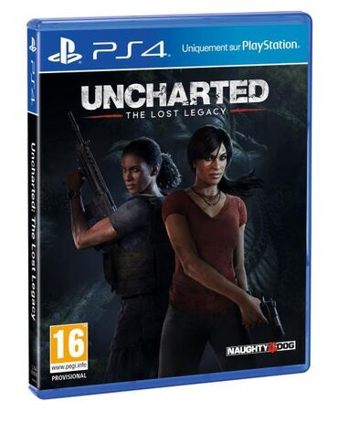 Uncharted: The Lost Legacy PS4 oyun diski.Sony PlayStation 4 ( PS4 )