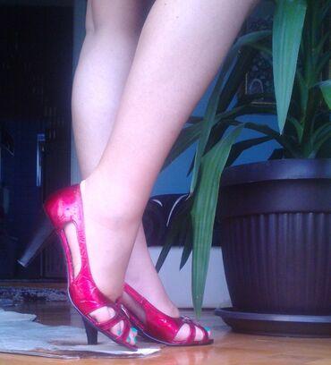 Ženska obuća | Kragujevac: Prodajem lakovane sandale br.38, nosene samo jednom na 3 sata i to je