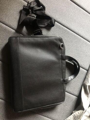 Na prodaju potpuno nova crna ( polukožna ) aktovka - torba za predmete