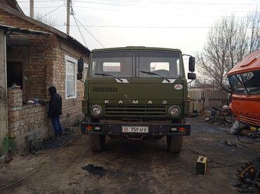 Грузовой и с/х транспорт - Кыргызстан: Продаю камаз в хорошем состоянии самосвал 1987 года вал р 1 в Круг