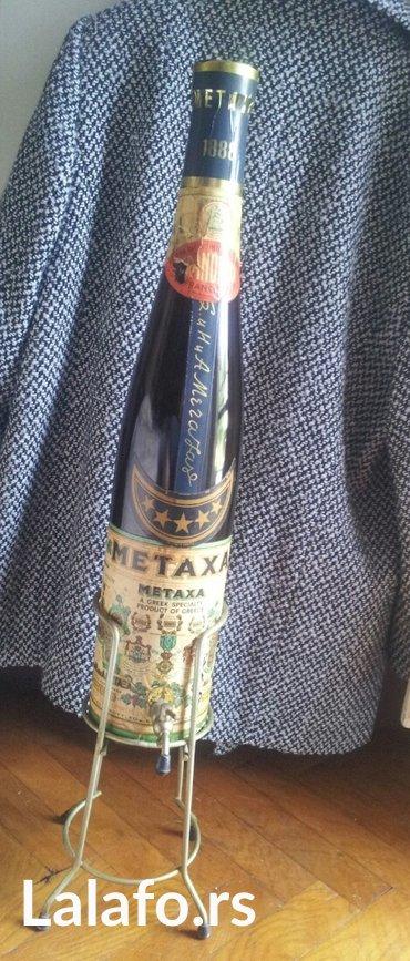 Ukrasna flaša   3 l Visina flaše 56 cm, sa postoljem 78 cm Flaša - Beograd