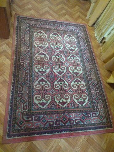 шерстяной советский ковер в Кыргызстан: Советский шерстяной ковёр, висел на стене, в ОТЛИЧНОМ состоянии, молью