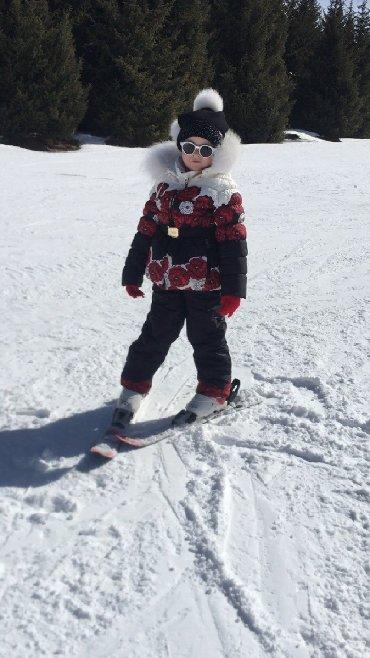 теплая зимняя кофта в Кыргызстан: Зимний комплект: утепленные штаны и курточка с натуральным мехом в