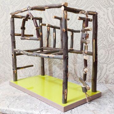 Игровой стенд для волнистых попугайчиков, игровая площадка для