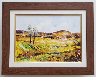 Ulje na platnu Polje u jesen, prelepo umetnicko delo. Uramljeno u jako