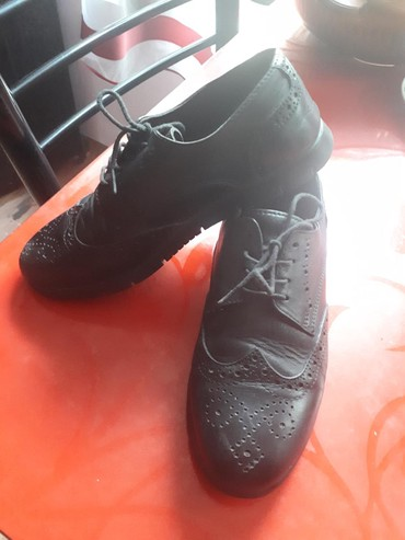 Детская обувь в Кок-Ой: Туфли подростковые (р.36) турецкие, кожанные оксфорд, ортопедические
