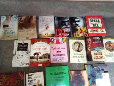 Razne vrste knjiga. Cena po dogovoru. Neke su i nove