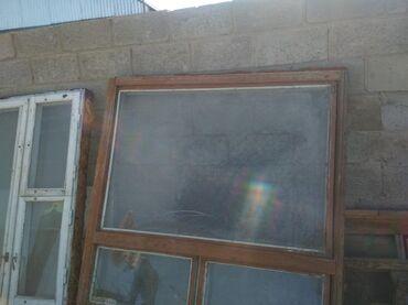 Продаются окна большие размер 150/150 б/у цена 4000сом 2шт