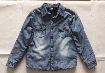 Рубашка джинсовая на мальчика рост 128 ( 7-8 лет ) ,  изнутри на искус в Бишкек