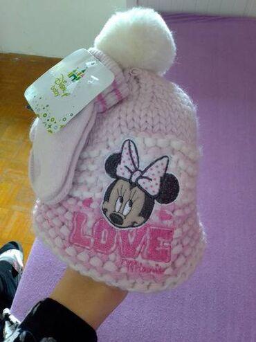 Kvalitetna, mekana i topla kapica sa rukavicama za bebe. Cena