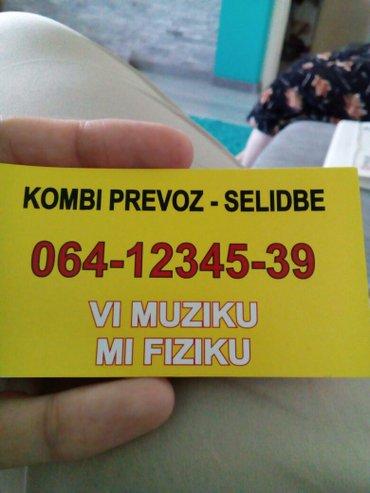 Sve vrste selidbi.Beograd i sira okolina,Lazarevac,Obrenovac.Javite se - Lazarevac