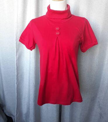 Летняя кофта-водолазка. Цвет красный, размер 44-46. Заказывали с