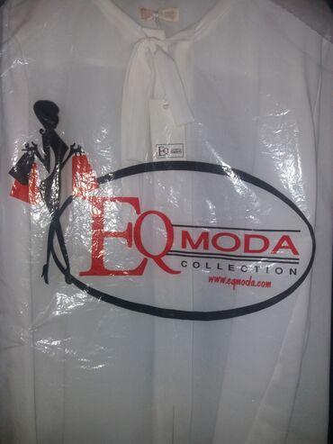 13975 объявлений: EQmodacollection  Белая блузка  Ткань очень нежная приятная на ощупь