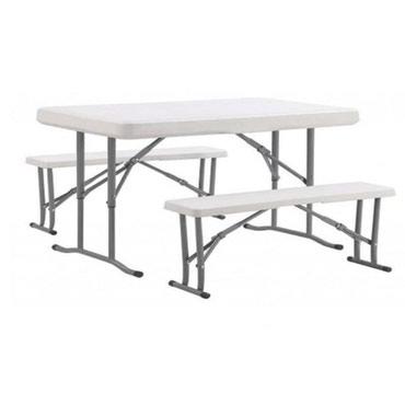 Стол+2 лавки. Лавки складываютца в стол. Очень прочный.1.2 х 0.6 м