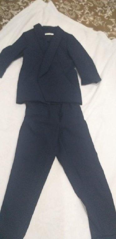 темно синее в Кыргызстан: Темно синий брючный костюм, одевали 2 раза
