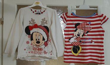 Dečiji Topići I Majice | Kragujevac: Bela Minnie Mouse majica iz Disney kolekcije, brend George, kupljena u