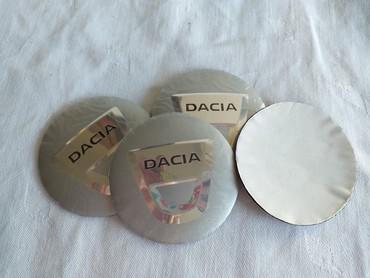 Ski oprema - Srbija: DACIA metalni čepovi stikeri za alu felne 56mm siviDACIA stikeri za