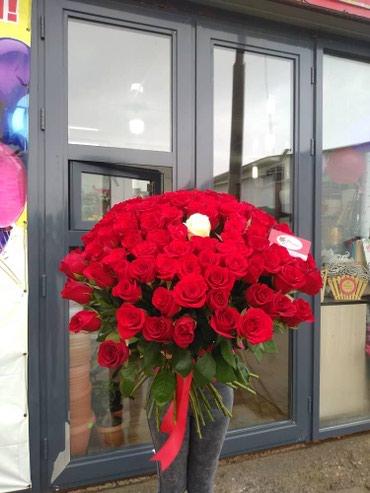 101 Роза 70 см длиной . Розы Кения ♡ по в Бишкек
