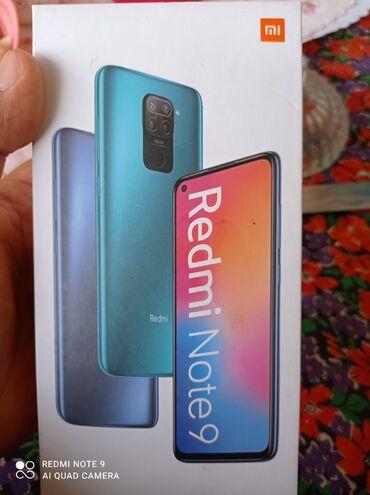 Мобильные телефоны - Базар-Коргон: Новый Xiaomi Redmi Note 9 64 ГБ Синий