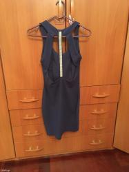 Μπλε φορεμα με ανοιγμα στη πλατη και στρας !!! One size ! Στειλτε