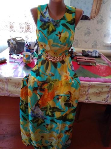 Женская одежда в Каинды: Платье в пол 46 размер, 250 сом