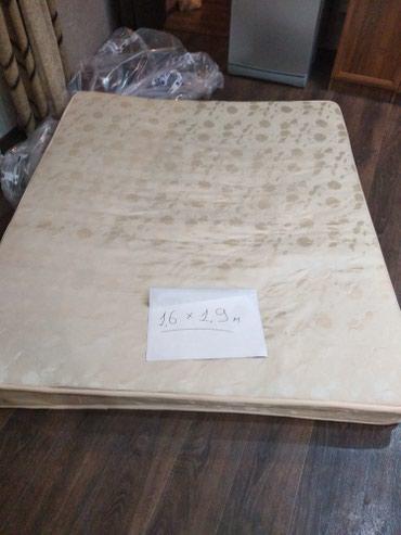 Продаю матрац. с 2х спалки. размер 1.6/1.9м. матрац б/у в Бишкек