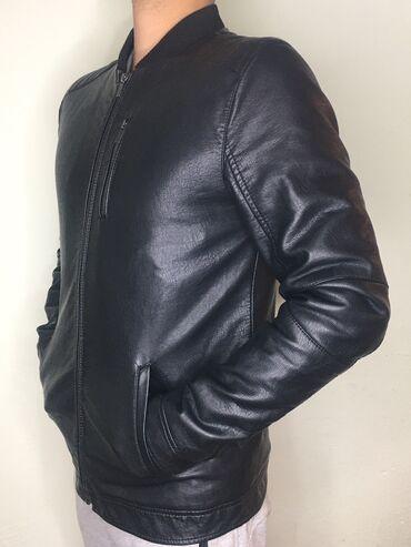 Мужская куртка чисто кожаная,размер-44/46