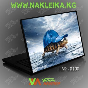 наклейка-для-ноутбука в Кыргызстан: НАКЛЕЙКА НА НОУТБУК №0100 Черепаха.Изготовление от 30