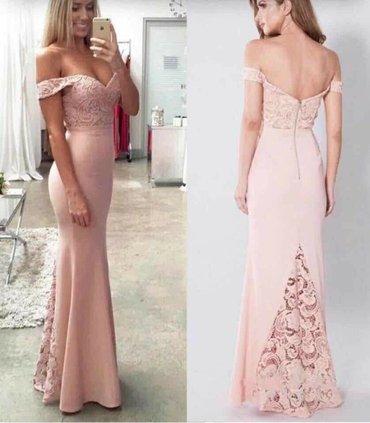 Crna sirena haljina - Srbija: Duga sirena haljina sa cipkom NOVO!Dostupne boje: crna, roze, crvena