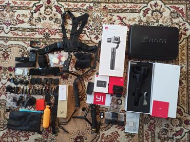 треккинговые палки бишкек in Кыргызстан   ГРУЗОВЫЕ ПЕРЕВОЗКИ: Камера и набор для экшн камеры Xiaomi Yi 4k Plus, ✔ снимает 4K на 60