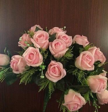 Другой домашний декор в Кыргызстан: Букет розовых искусственных розочек (муляж). В букете 23