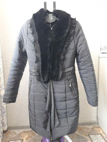 женская платье 42 44 размер в Кыргызстан: Зимняя куртка. Размер s-m (42-44). Цвет-графит